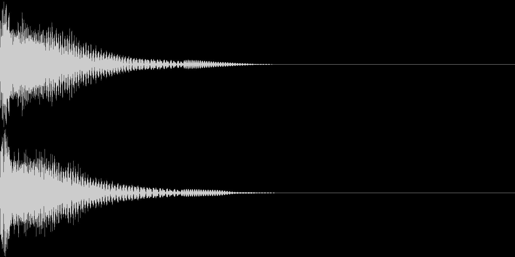 Robo ロボアニメ ビームソード斬撃音の未再生の波形