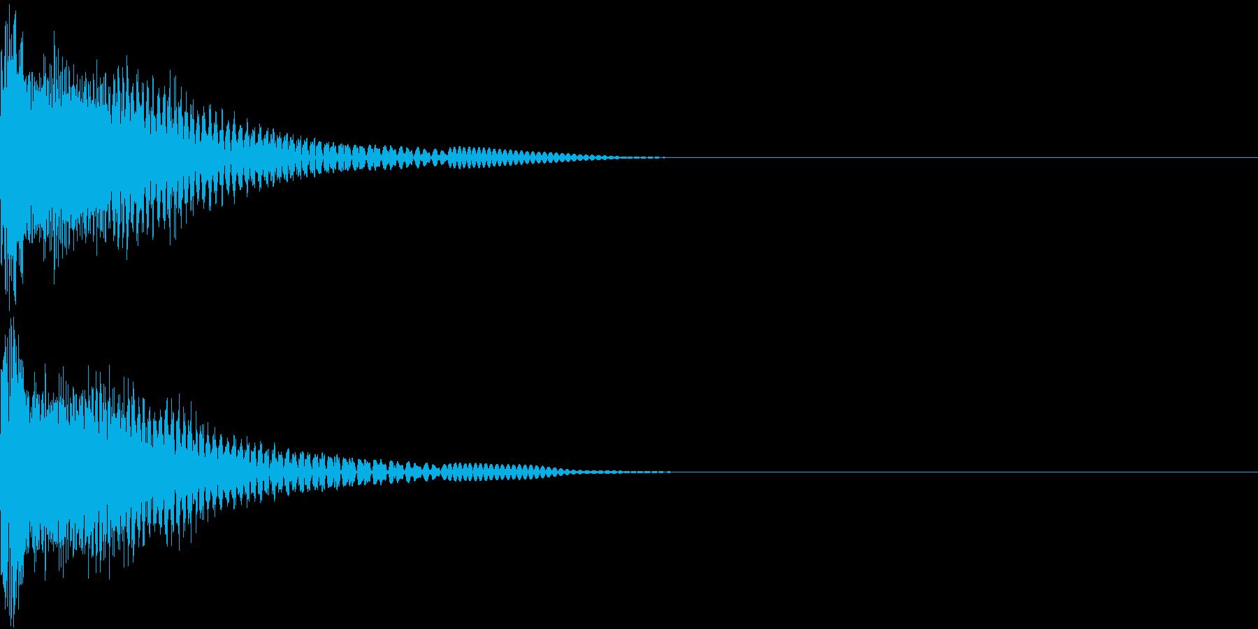 Robo ロボアニメ ビームソード斬撃音の再生済みの波形