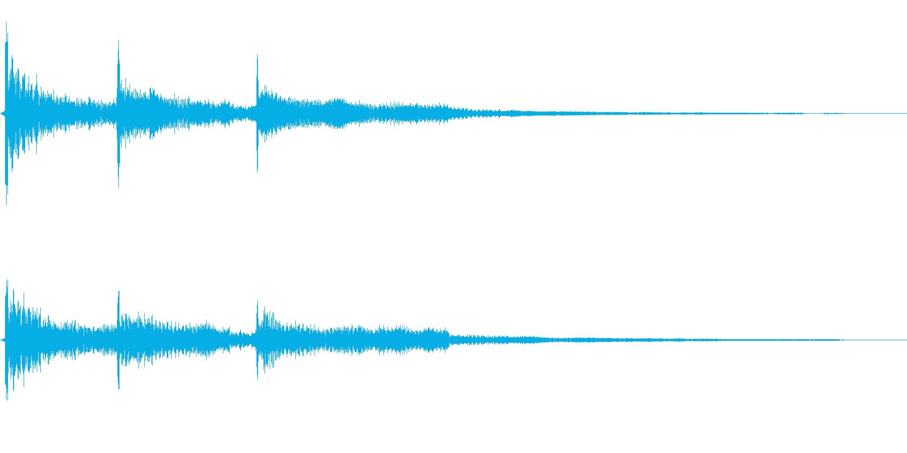 和風クリック音源ワンポイント効果音の再生済みの波形