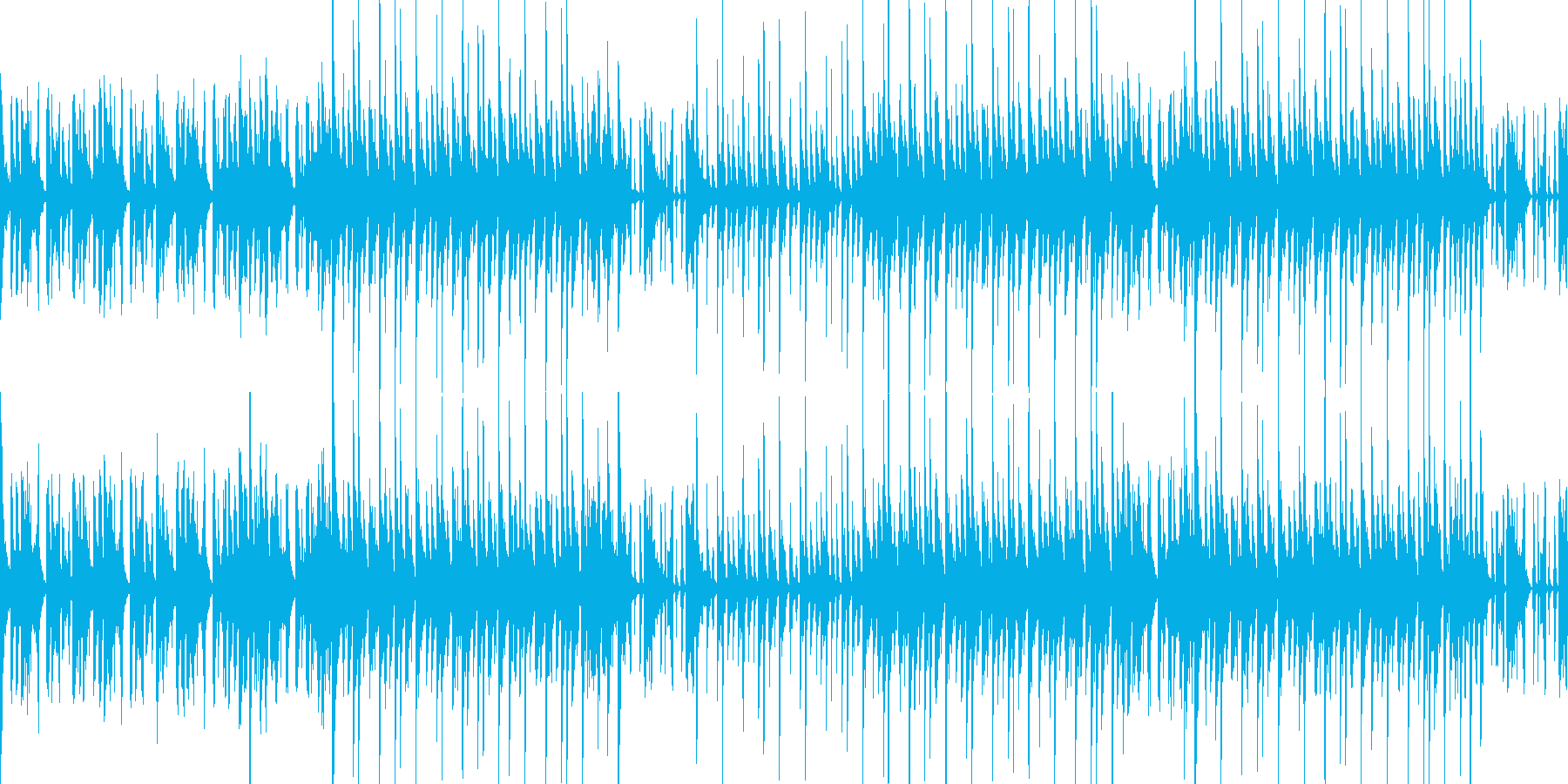 【ループ】夏のイメージ スチールドラムの再生済みの波形