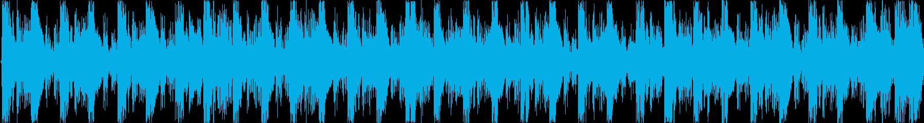 ハウスのリズムを基本にした楽曲です。の再生済みの波形