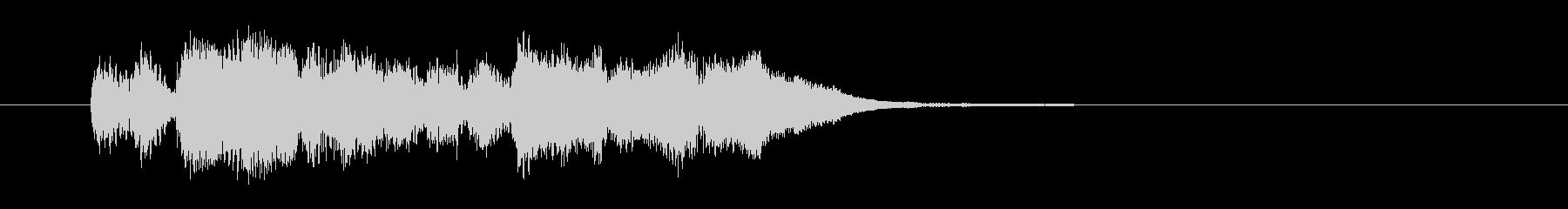 勢いと華やかなシンセサイザーサウンド短めの未再生の波形