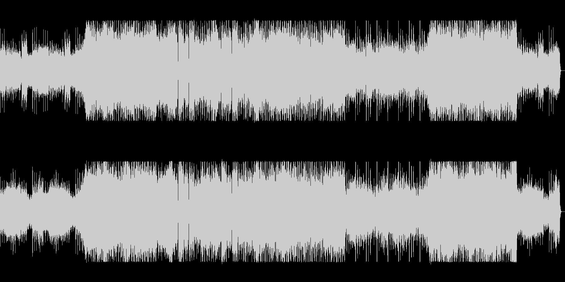 疾走感とワクワク感のシンセギターサウンドの未再生の波形