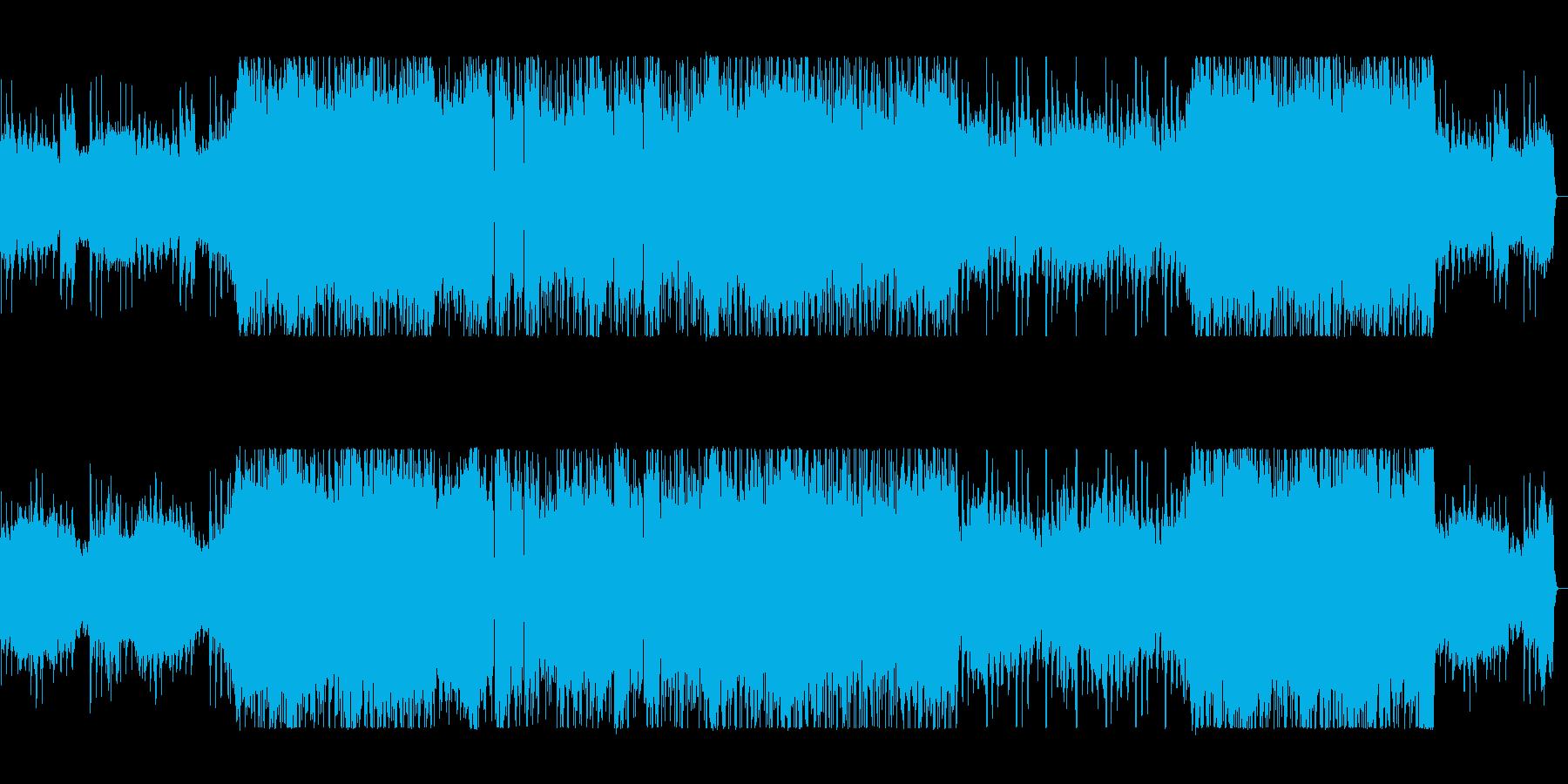 疾走感とワクワク感のシンセギターサウンドの再生済みの波形