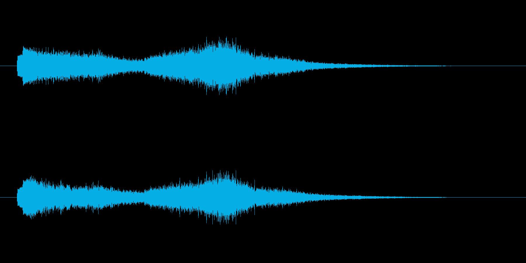 ポロンシュワー(清涼感の電子音)の再生済みの波形