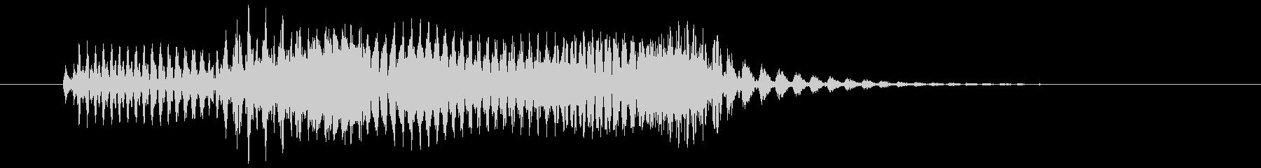 動作キャンセル向け電子音(テレードン)の未再生の波形