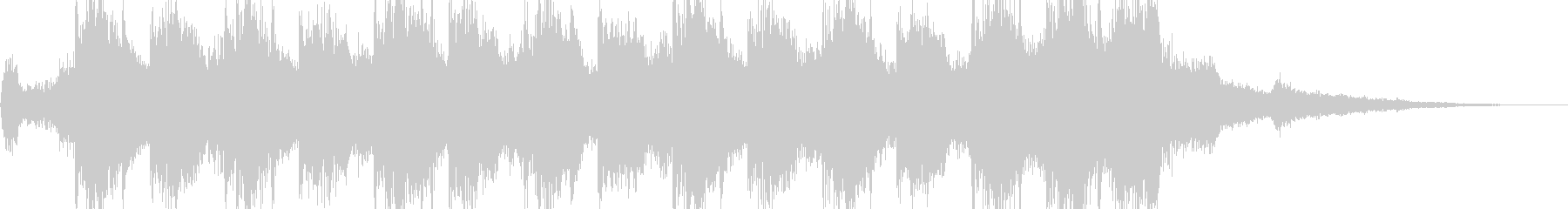 迫力のあるファンファーレ系の未再生の波形