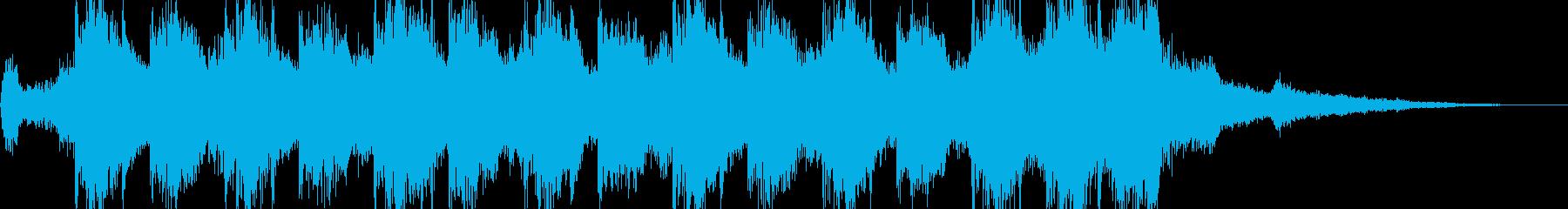 迫力のあるファンファーレ系の再生済みの波形