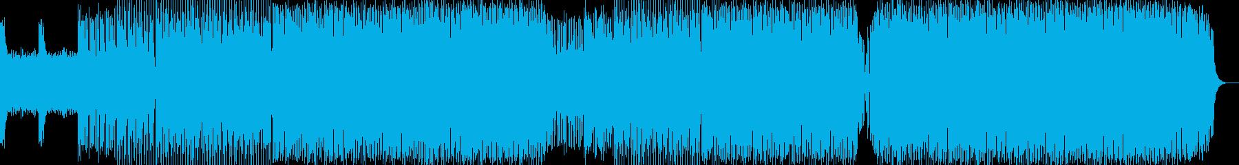 淡々としたビッグビートの再生済みの波形
