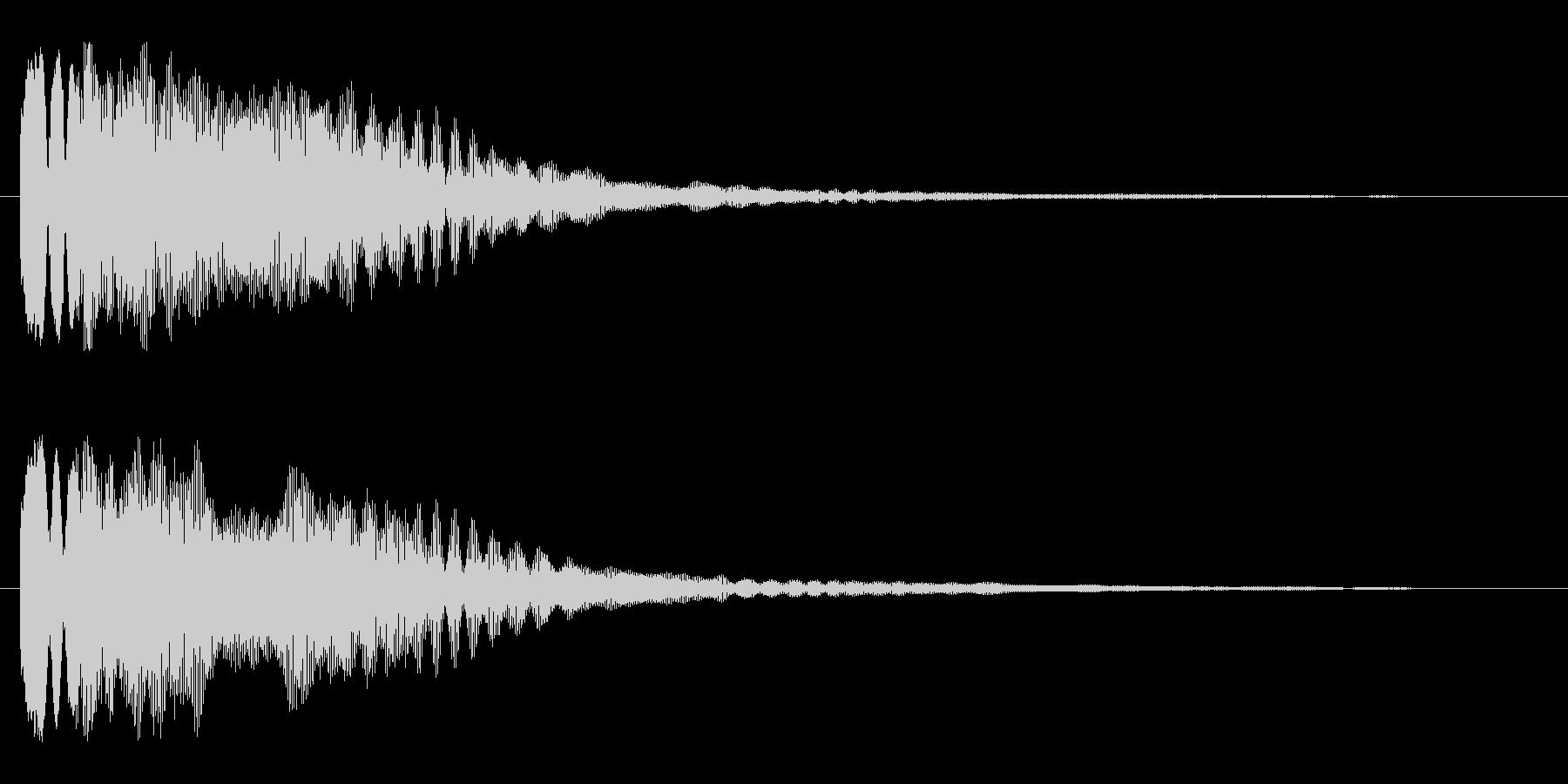 キラーン(星が出現する音)の未再生の波形