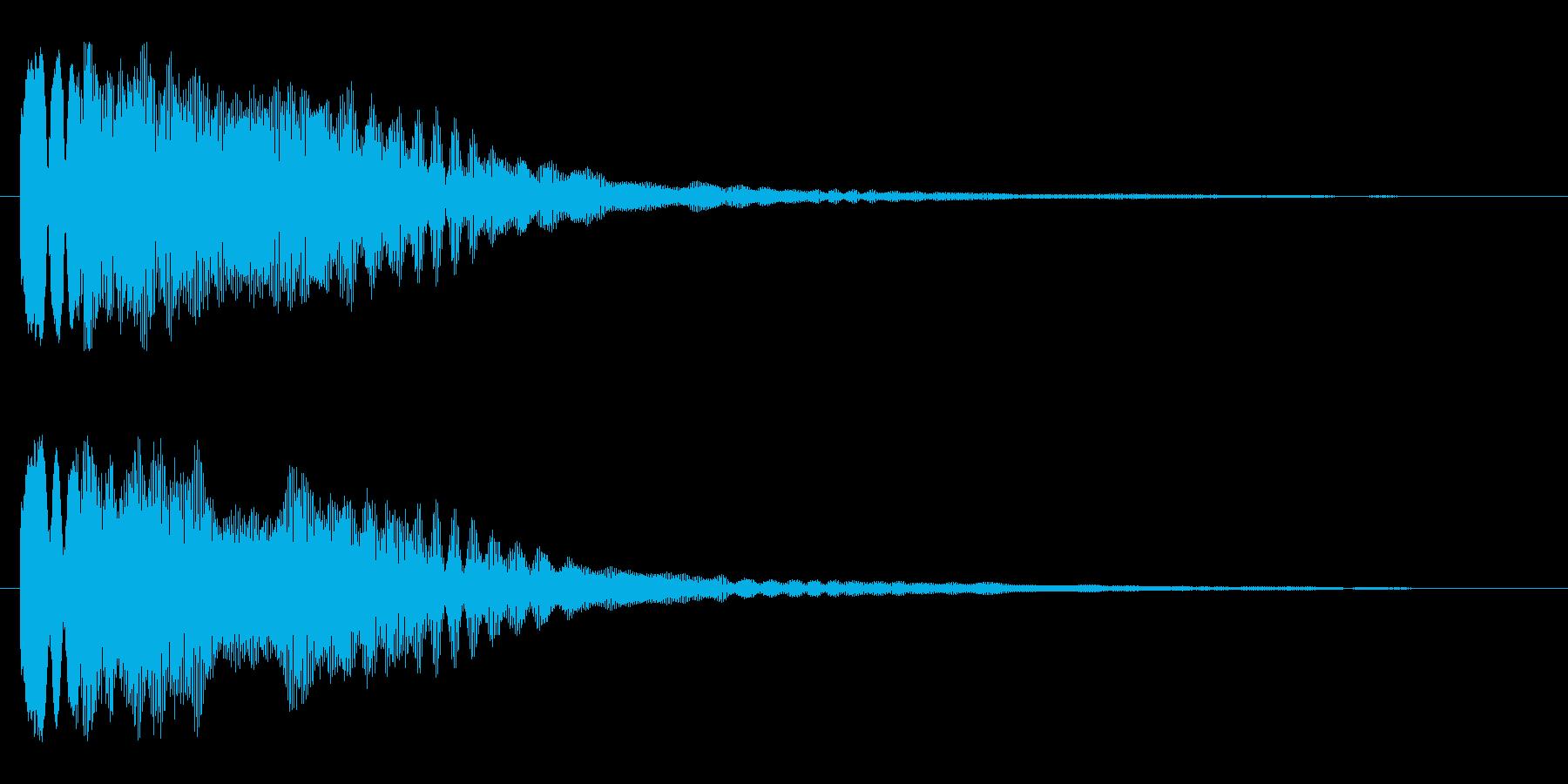 キラーン(星が出現する音)の再生済みの波形