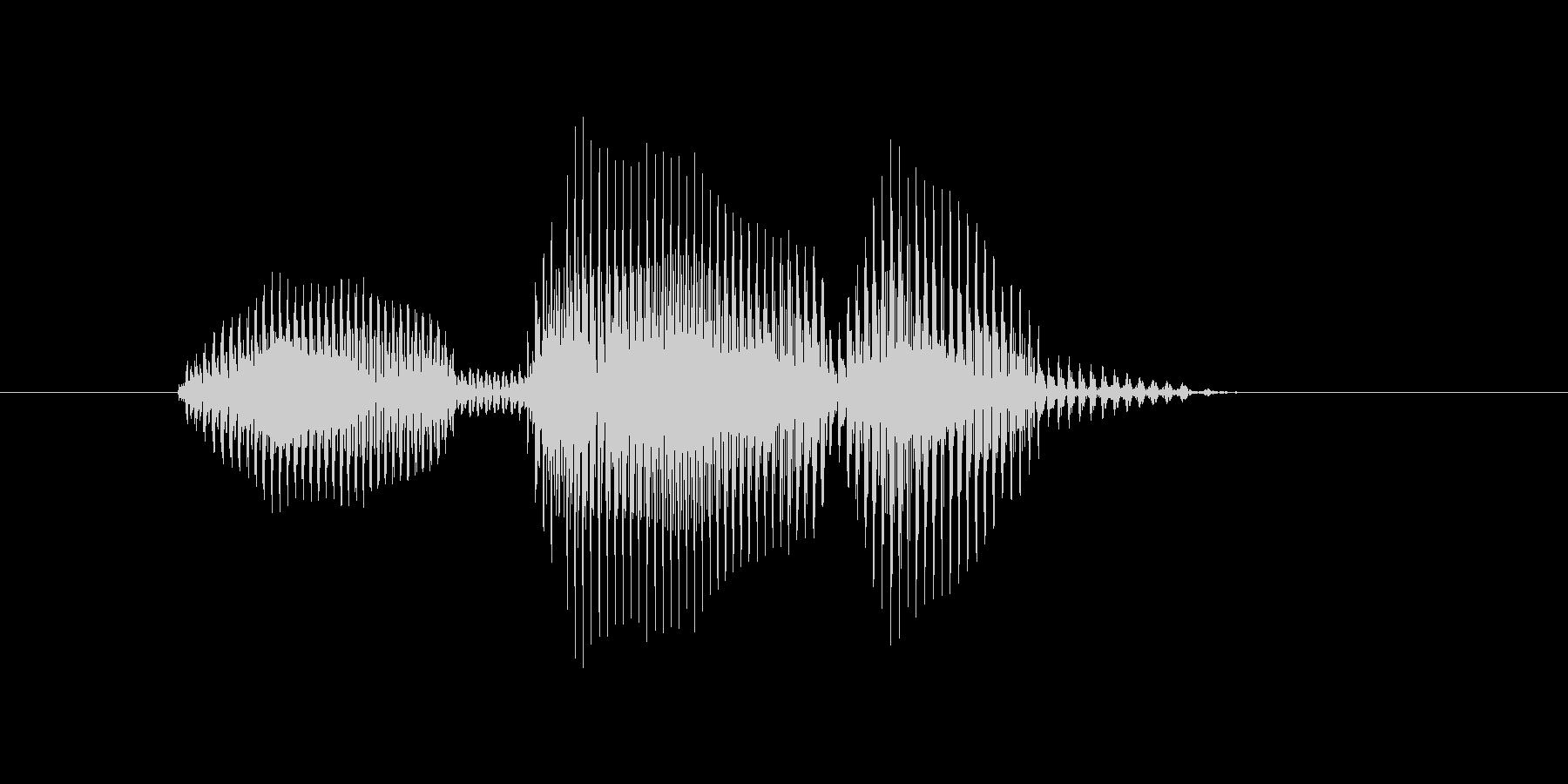 オーバーランの未再生の波形