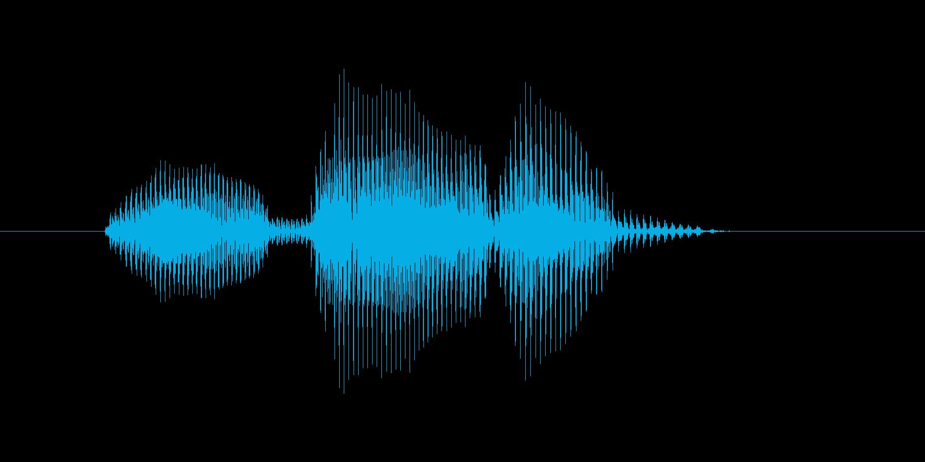 オーバーランの再生済みの波形