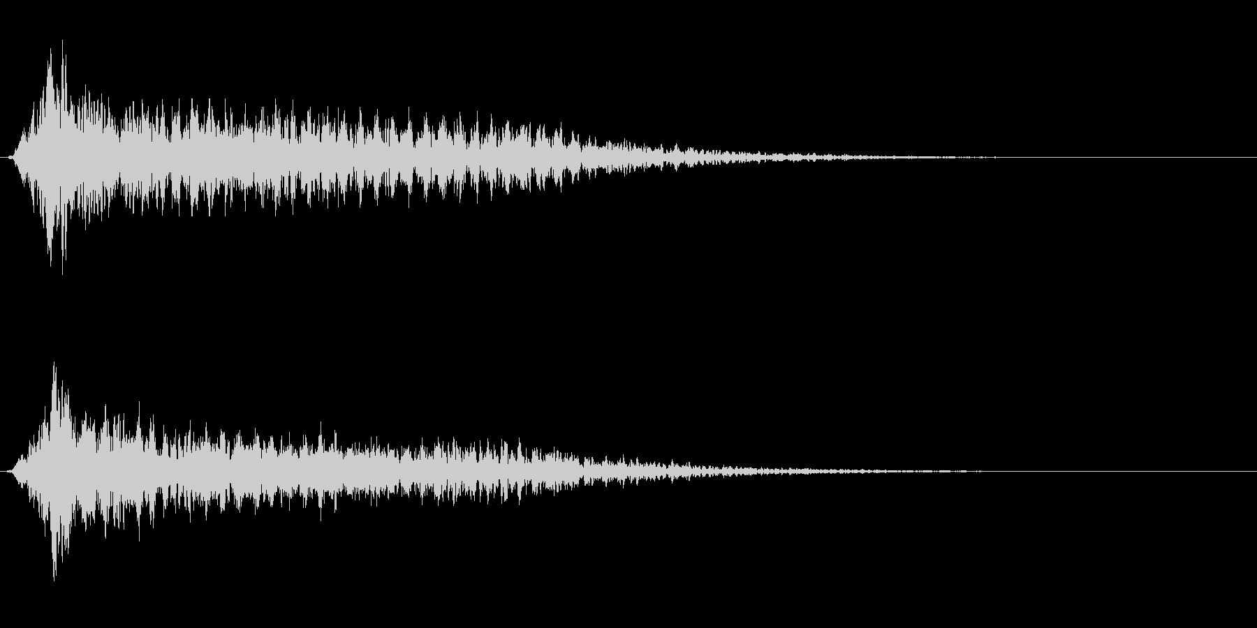サスペンスに最適!ピアノの弦を弄ぶ音25の未再生の波形
