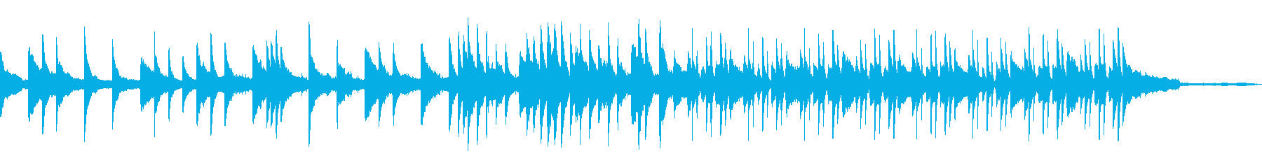 【1分版】穏やかで優しい雰囲気のピアノ曲の再生済みの波形