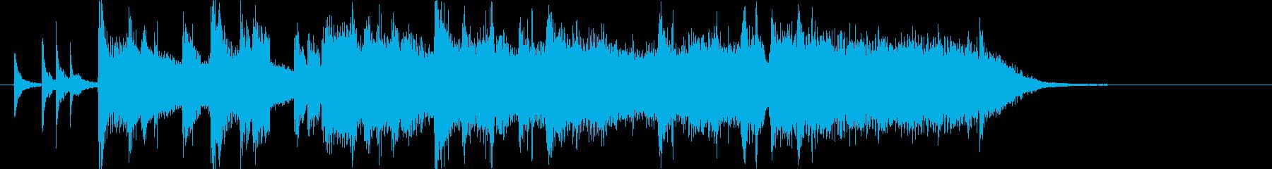 シンプルなバンドサウンド風ジングルの再生済みの波形