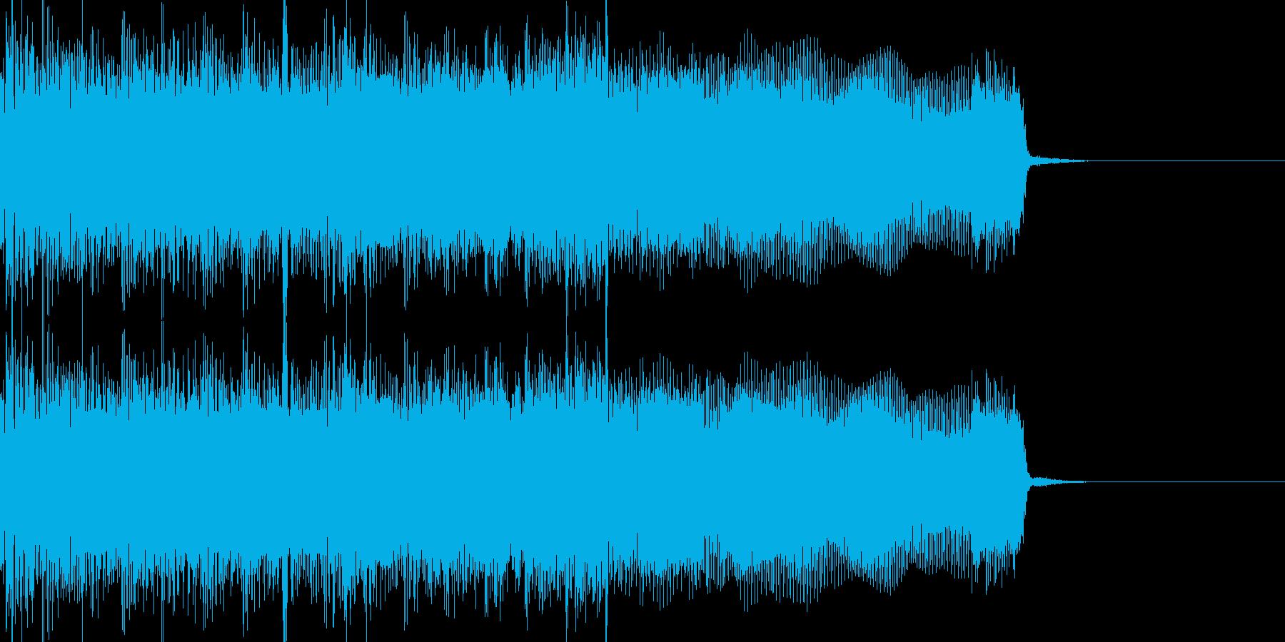勢いがあり攻撃的なメタルロックver.2の再生済みの波形