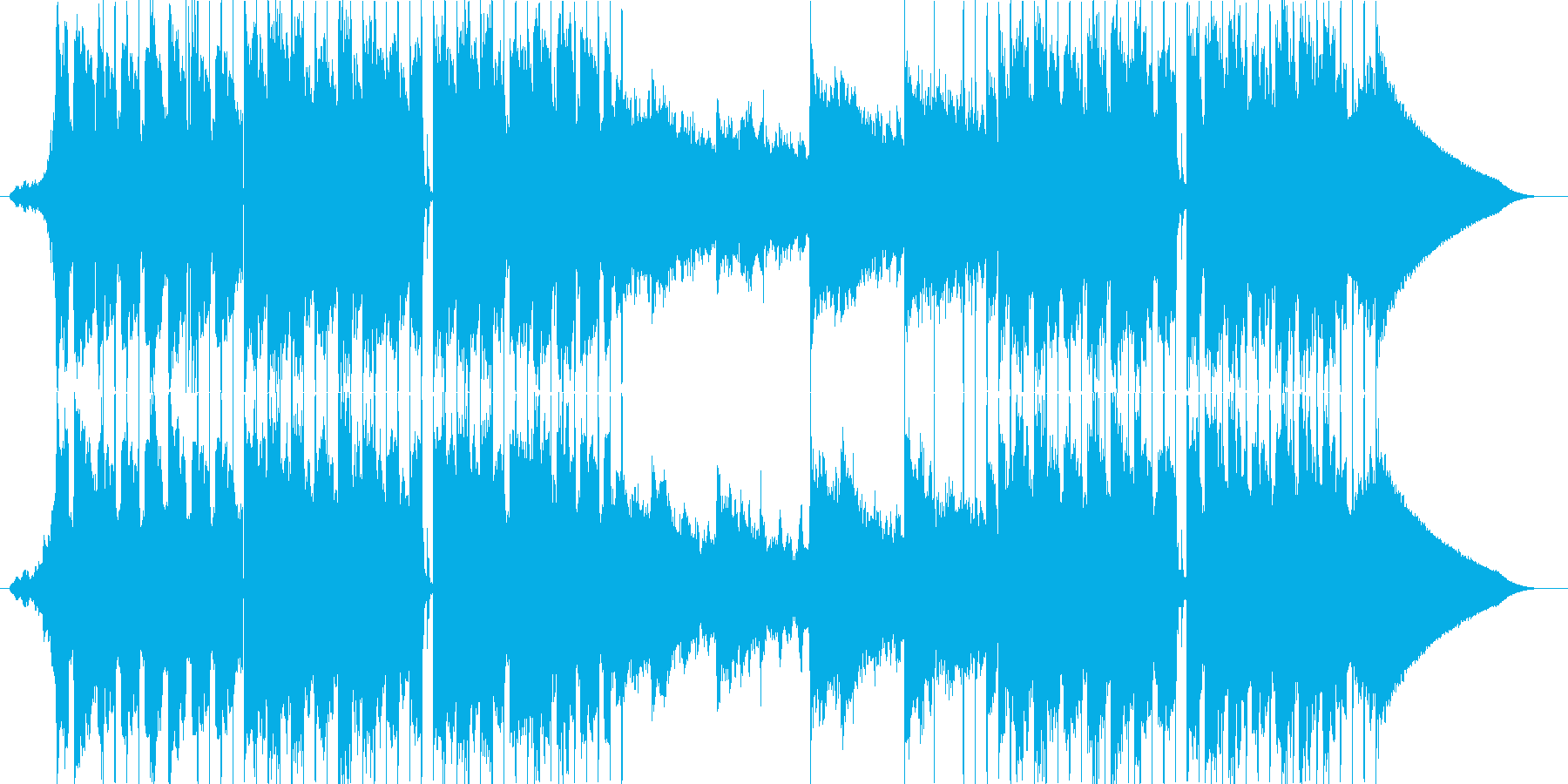 クールでシンプルな曲の再生済みの波形