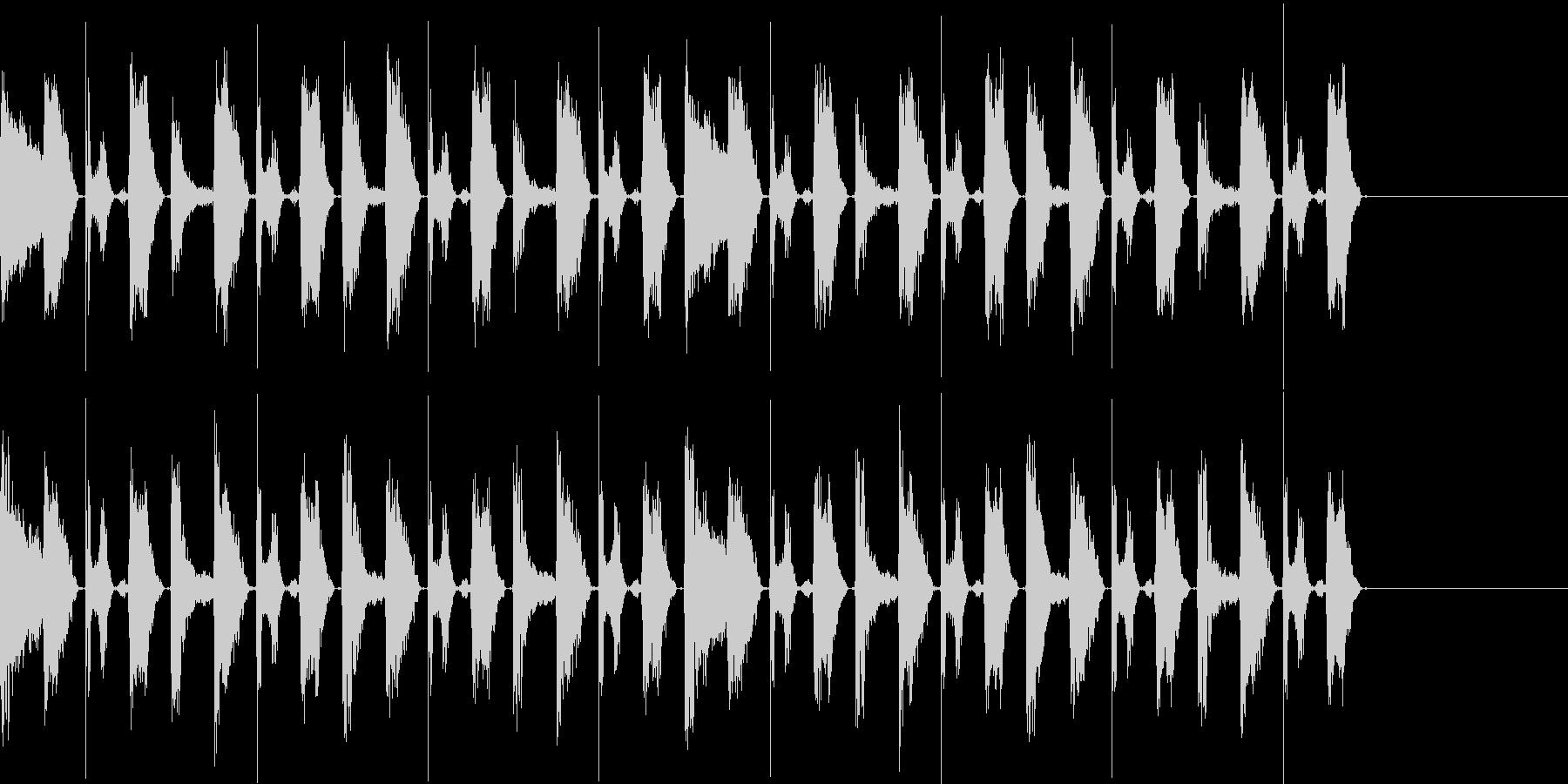 ボイスパーカッションでの8ビートのバリ…の未再生の波形