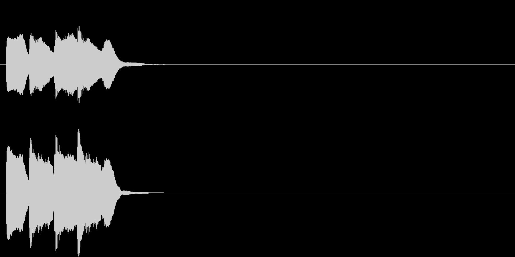 汎用アラート音01(高)の未再生の波形