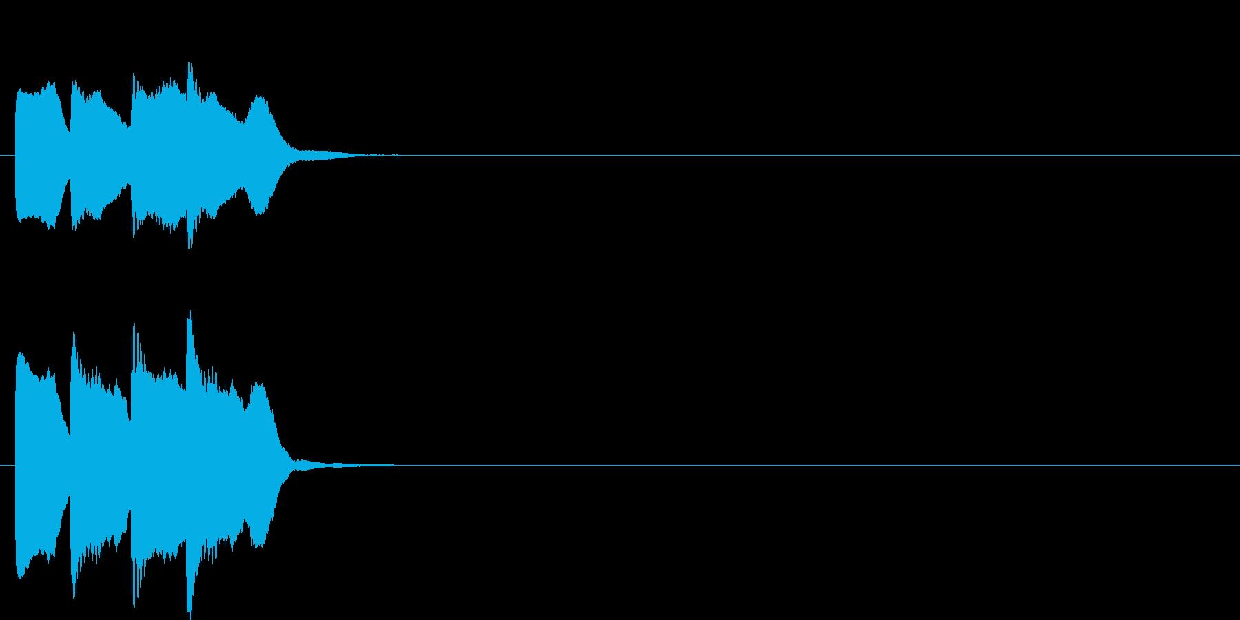 汎用アラート音01(高)の再生済みの波形