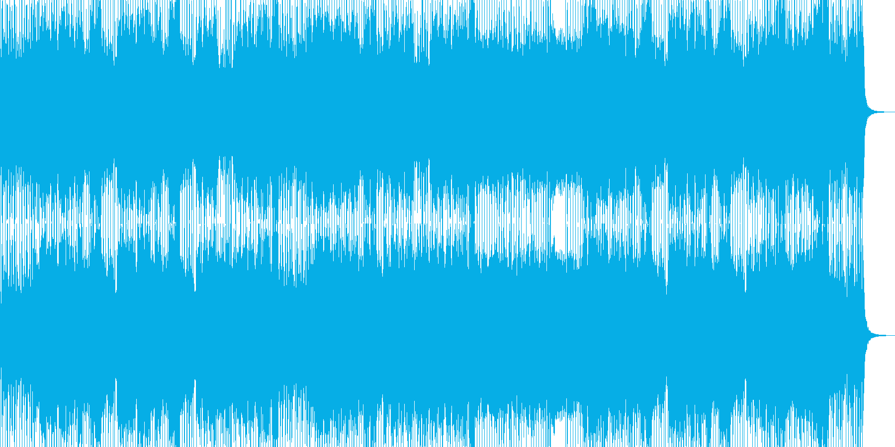 バンドサウンドのシンプルロックの再生済みの波形