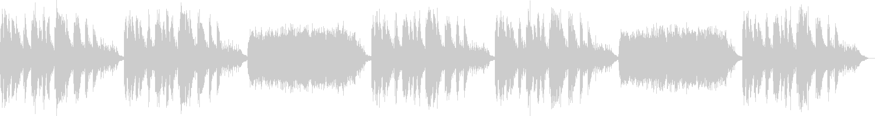 メモリアル系リラクゼーション曲の未再生の波形