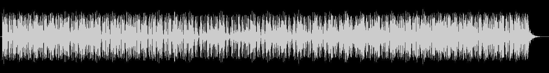 軽やかなテクノミュージックの未再生の波形