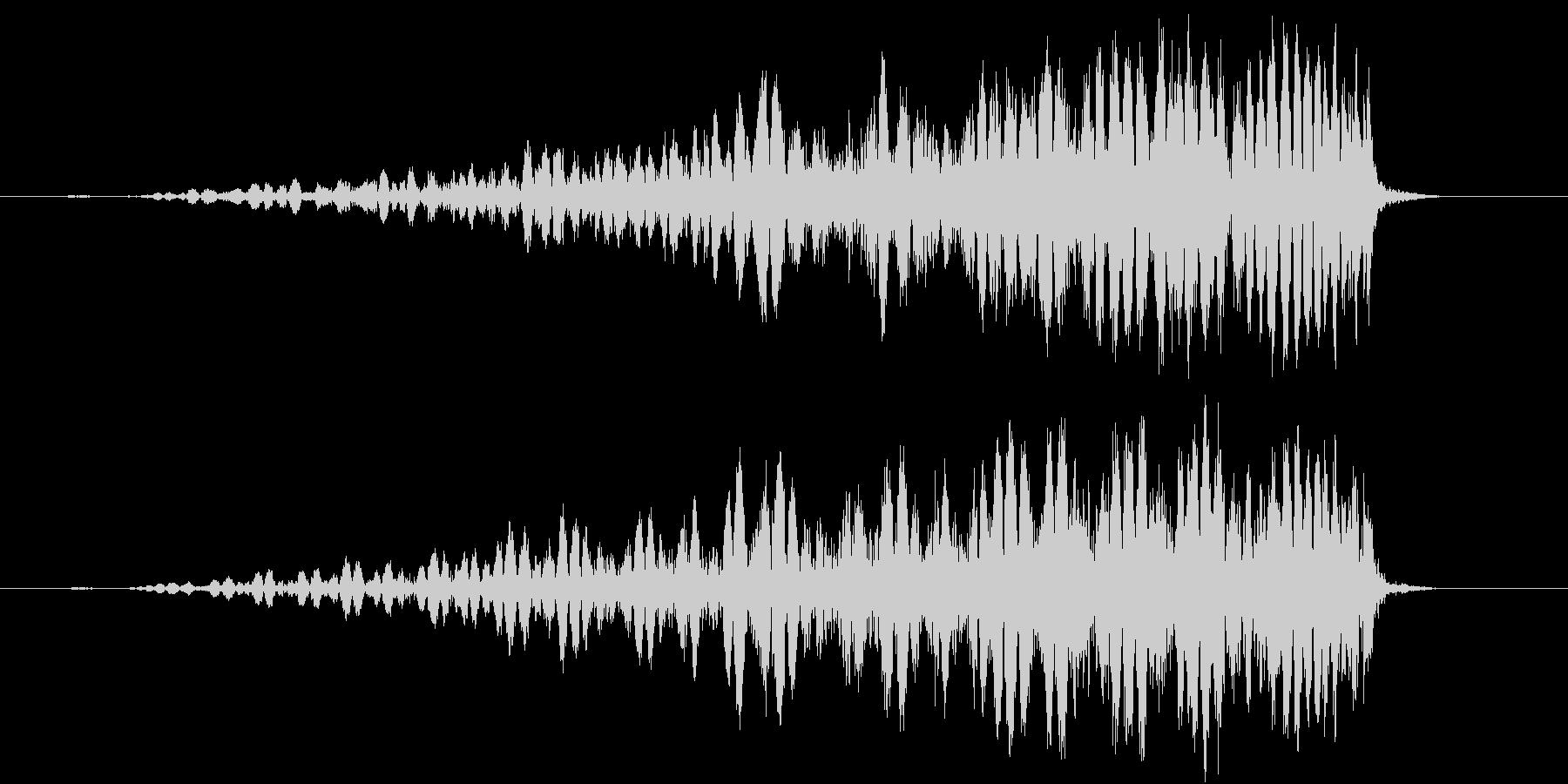 スワイプ、キャンセル、場面転換に最適01の未再生の波形