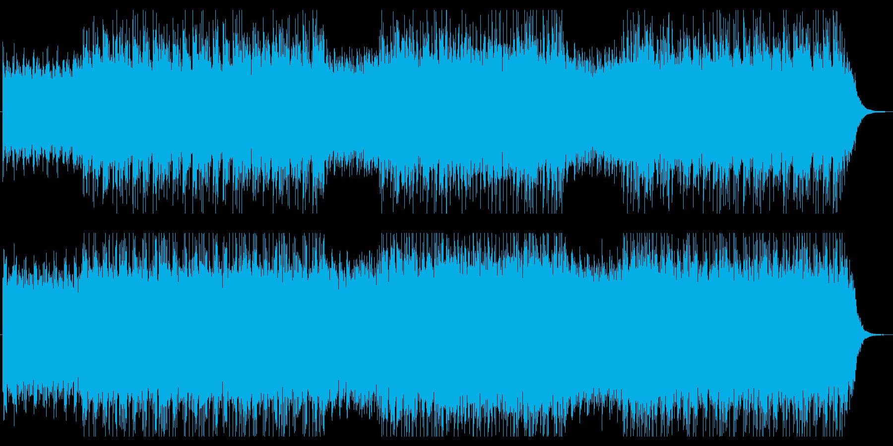 ピアノロックで浮遊感のあるBGMの再生済みの波形