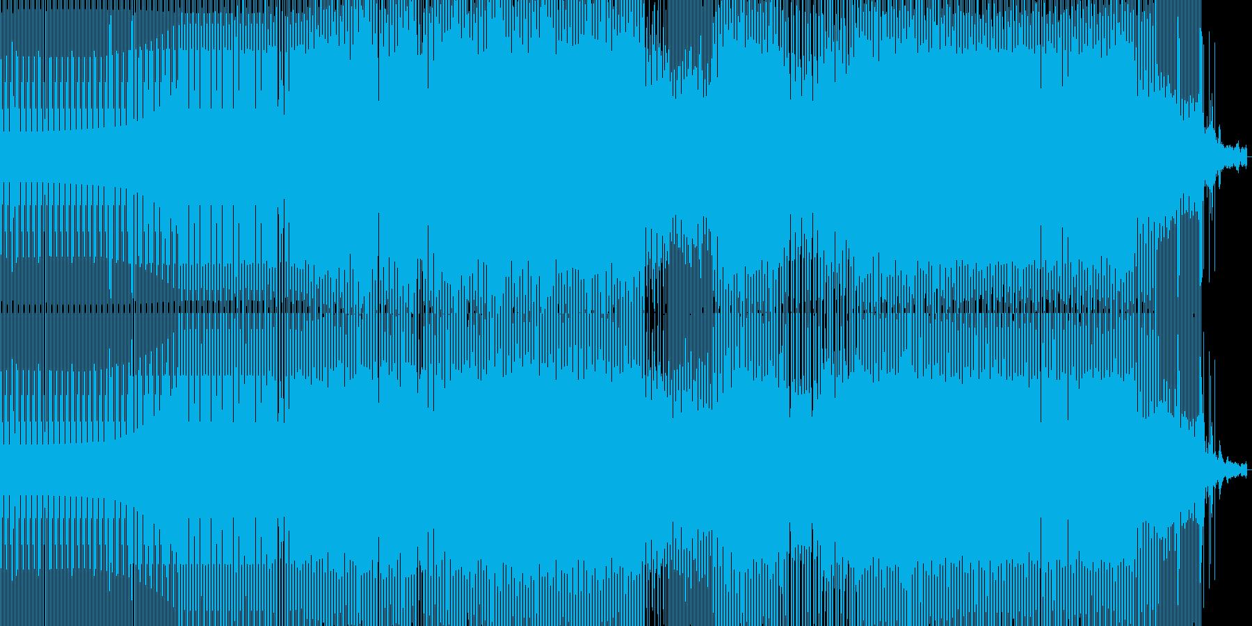 跳ねた感じのミニマルテクノの再生済みの波形