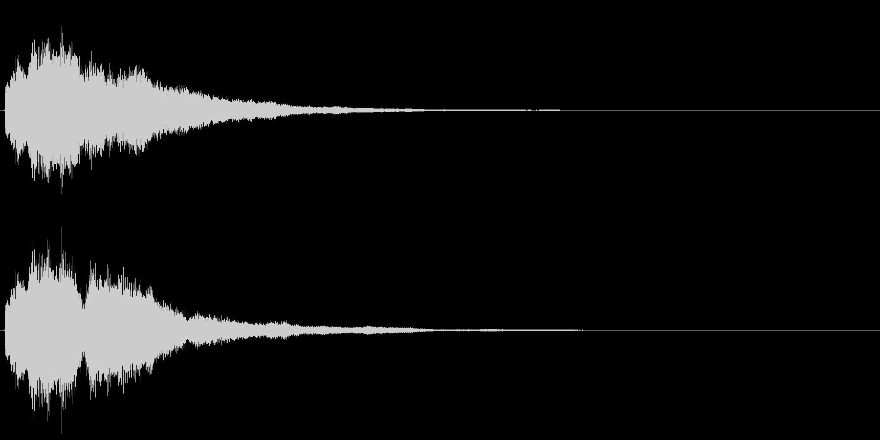 チャラーン(ボタン音・選択音・コイン)の未再生の波形