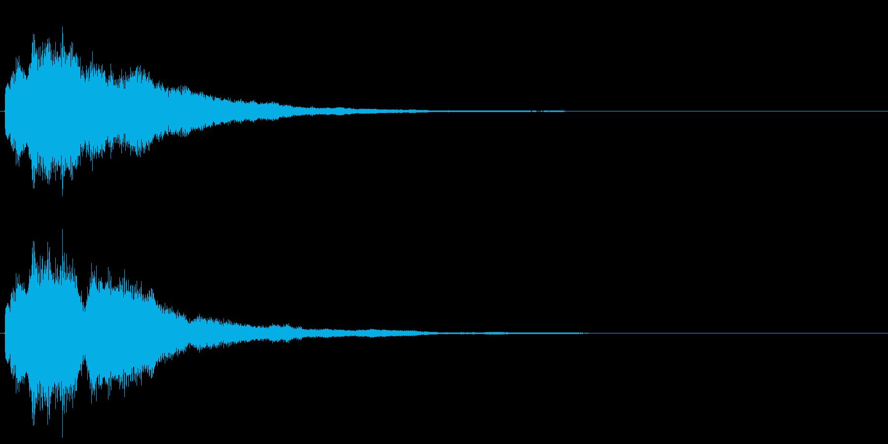 チャラーン(ボタン音・選択音・コイン)の再生済みの波形
