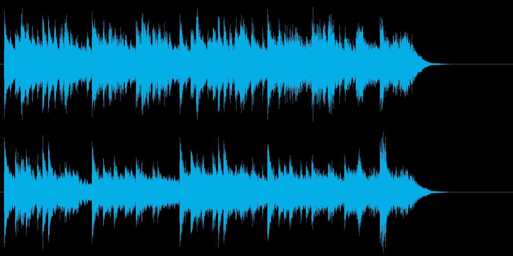 軽やかで穏やかなピアノジングルの再生済みの波形