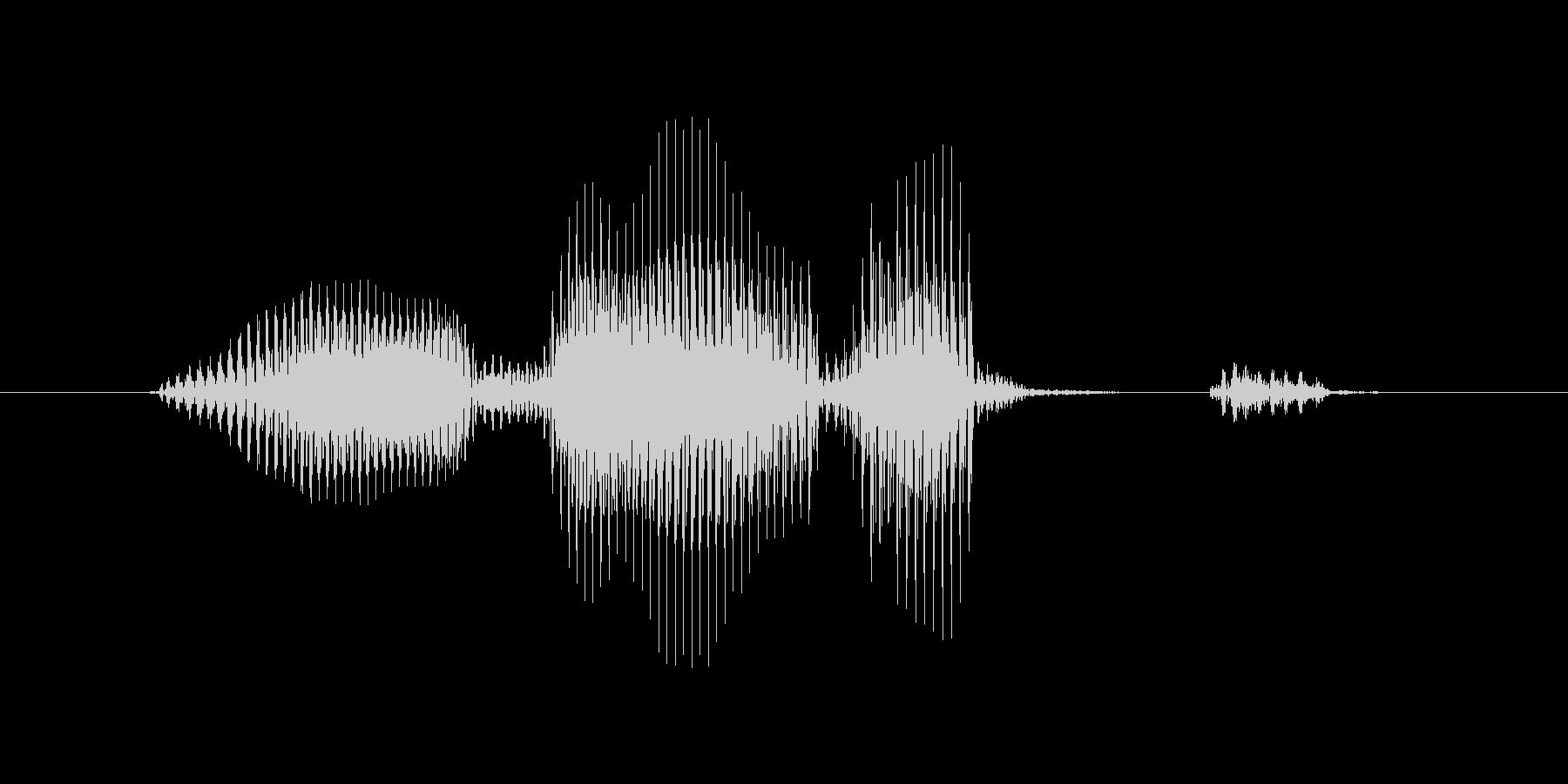 オーバーラップの未再生の波形