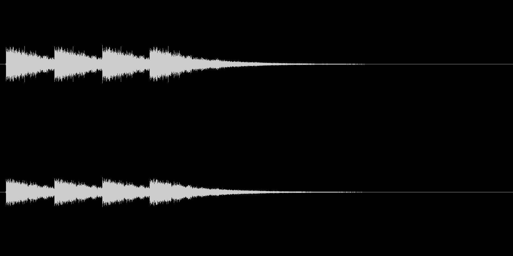 カウント音。ハイハット、シンプルの未再生の波形
