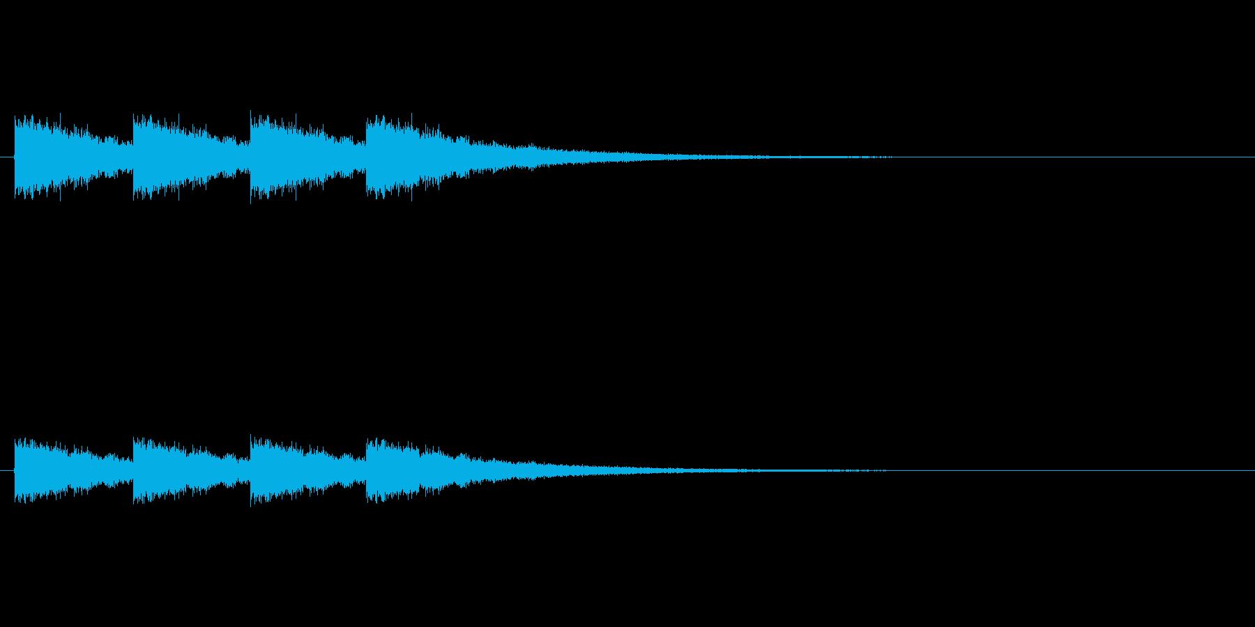 カウント音。ハイハット、シンプルの再生済みの波形