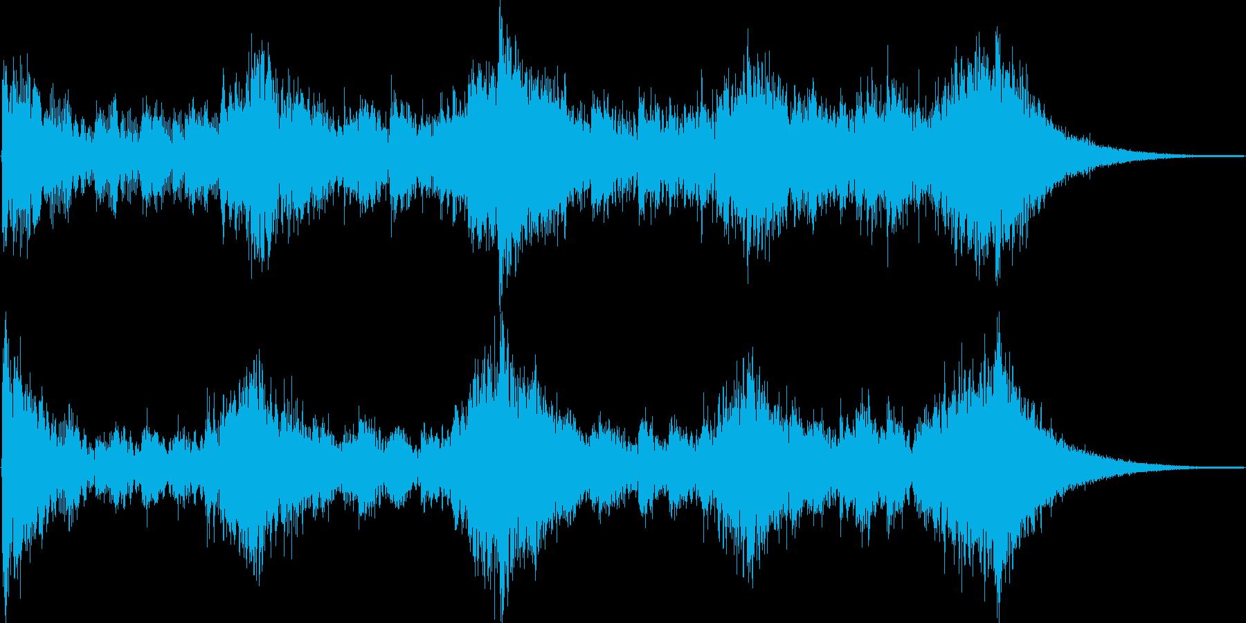 ニュースのオープニングのような曲の再生済みの波形