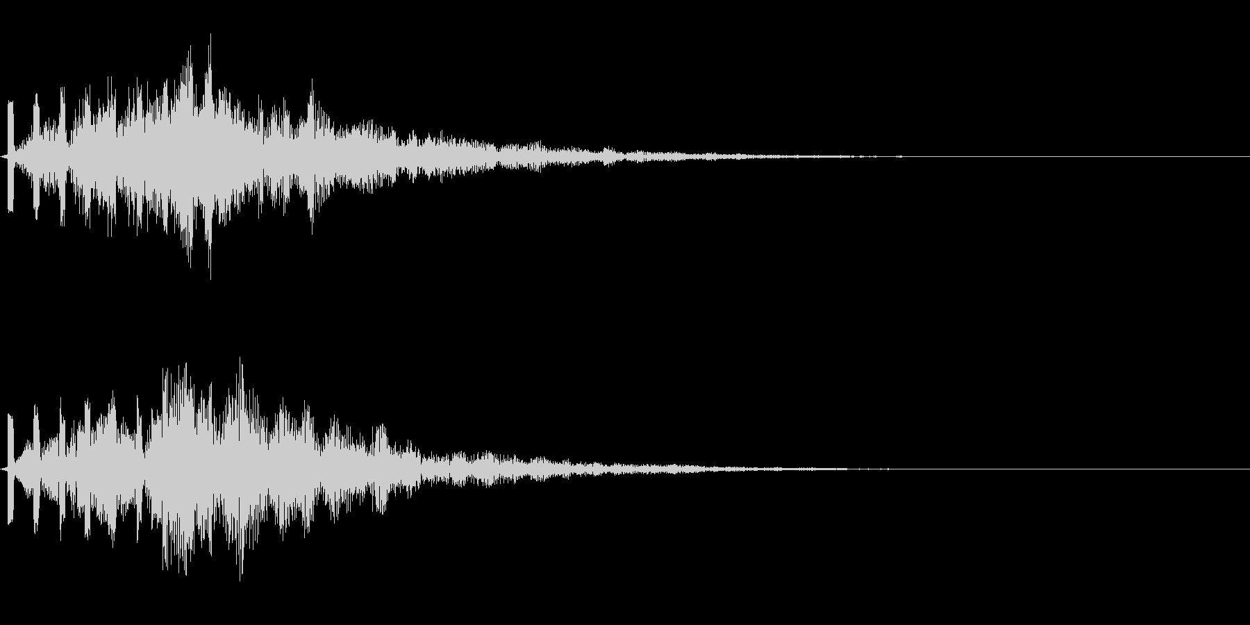 様々な場面で使用出来る心地良い効果音の未再生の波形