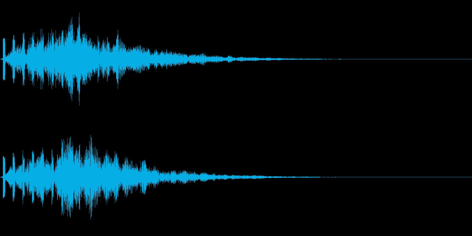 様々な場面で使用出来る心地良い効果音の再生済みの波形