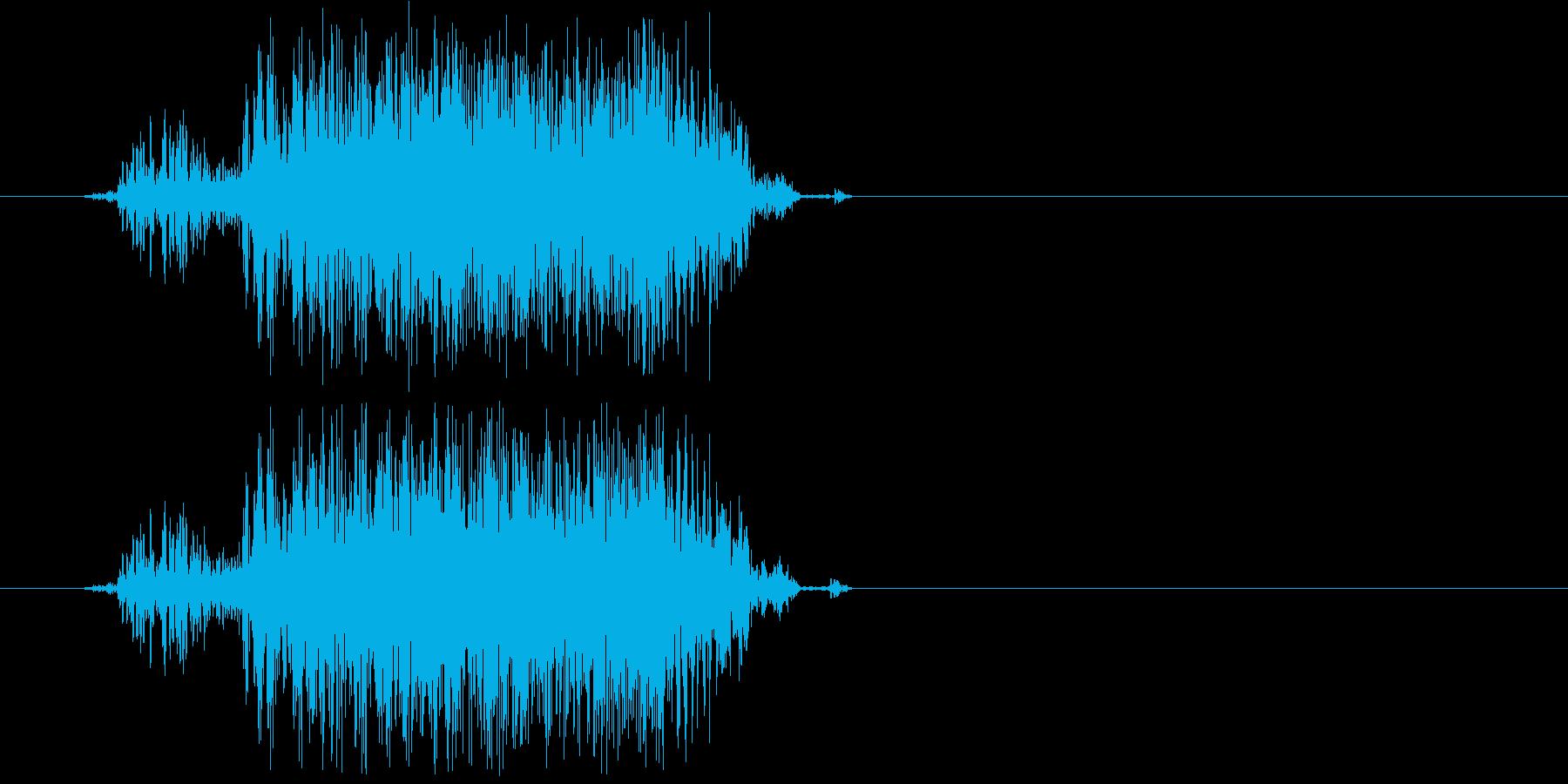 グゥアーー(猛獣、化け物の声)の再生済みの波形