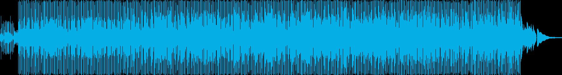 哀愁のあるアコースティックギターファンクの再生済みの波形