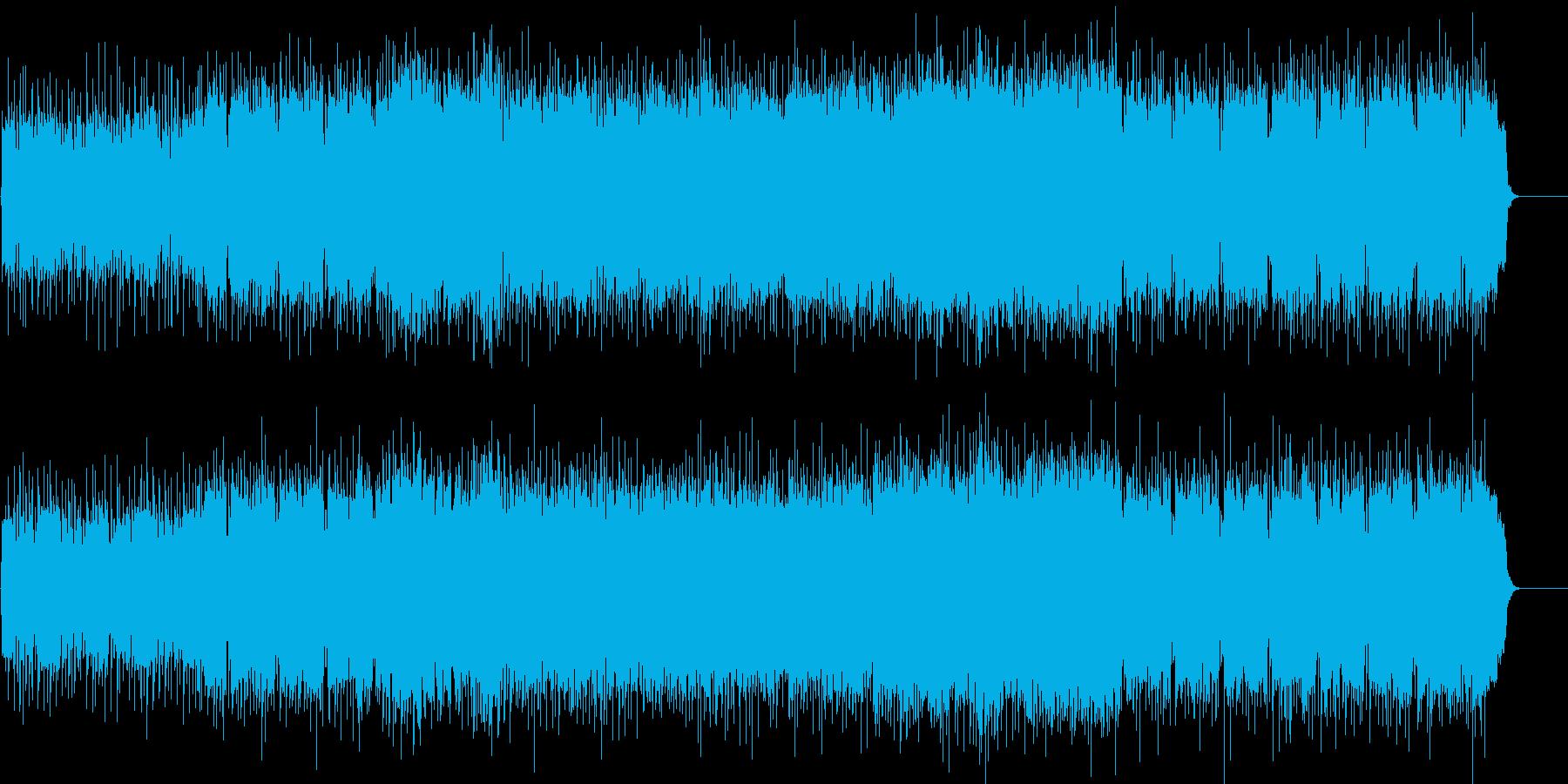 バイカーたちの野性味溢れるヘヴィーメタルの再生済みの波形