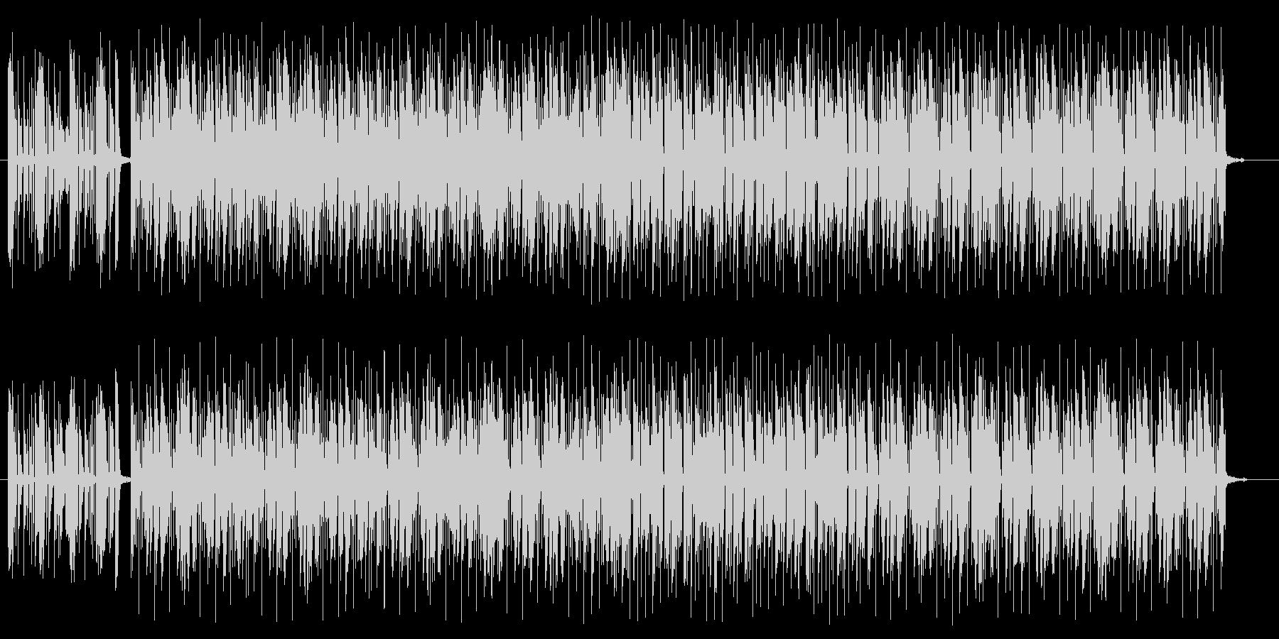 雰囲気あるギターのロックの曲の未再生の波形