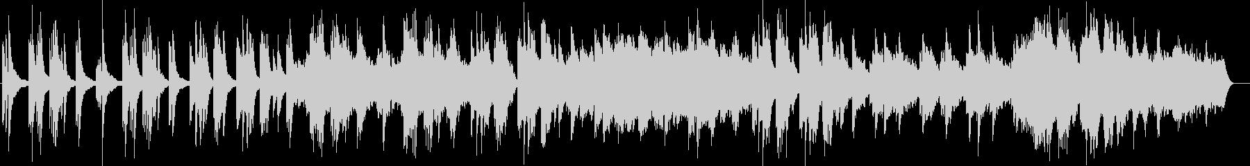 切ない感じのするピアノ曲の未再生の波形