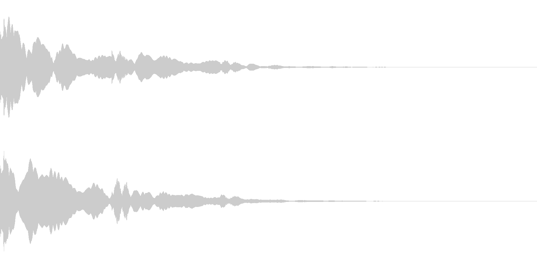 ベル/メタル/システム/金属/響くの未再生の波形