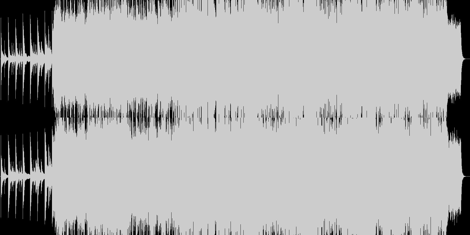 音ゲーみたいな疾走感のある音楽の未再生の波形