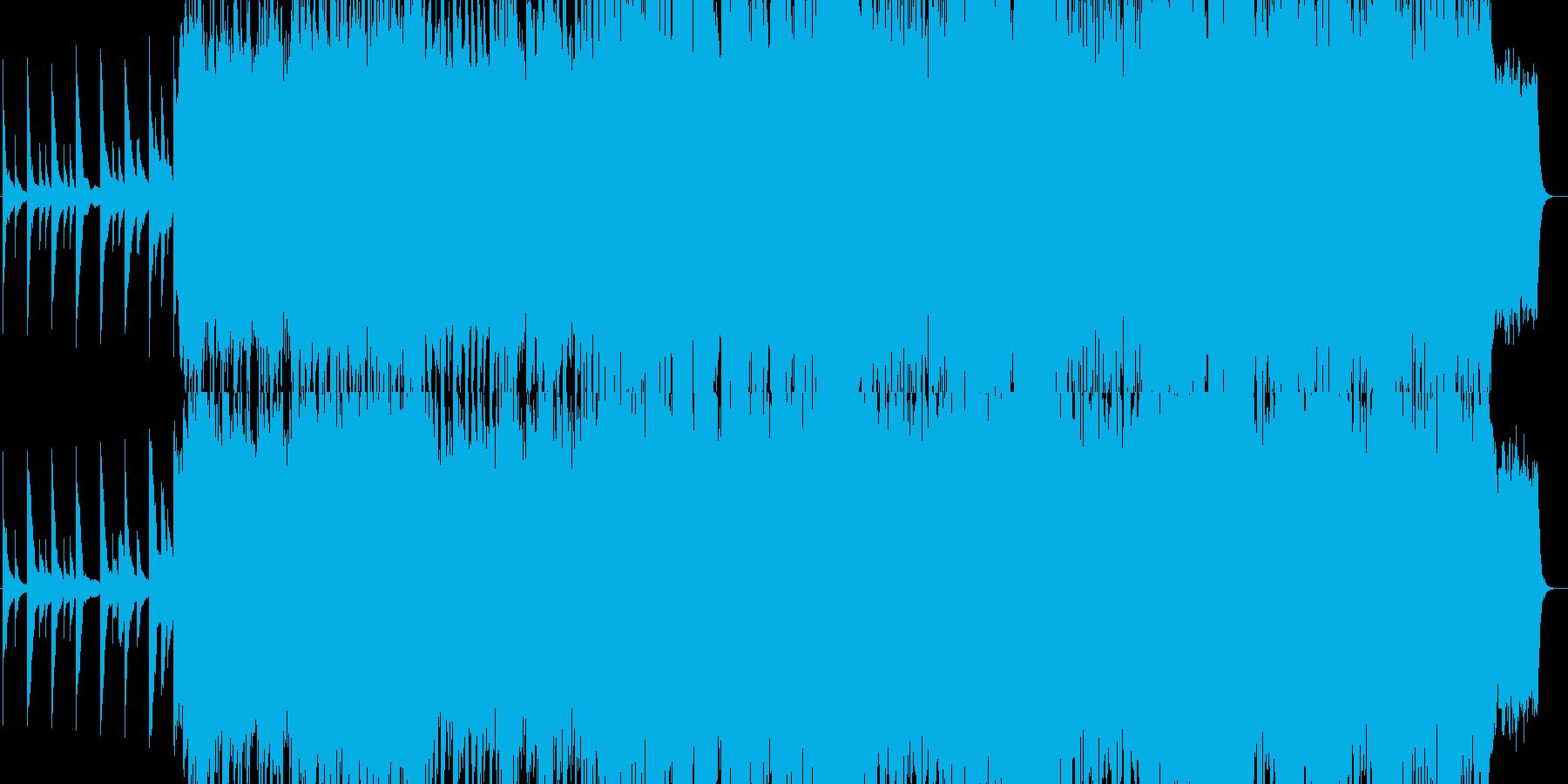 音ゲーみたいな疾走感のある音楽の再生済みの波形