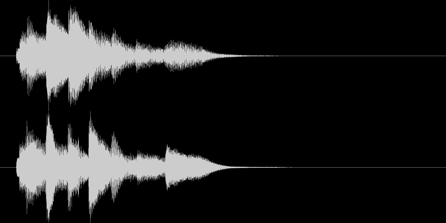 場面転換用ピアノソロの短いジングルの未再生の波形