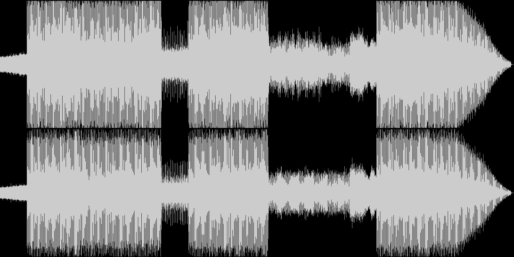 EDMアレンジによるハードロックの未再生の波形